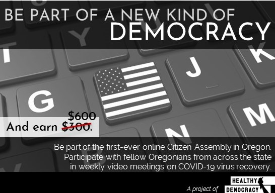 Postcard inviting Panelists to serve on our first fully-online Assembly.
