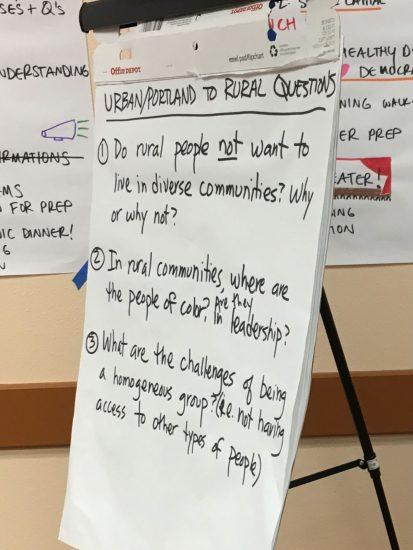 Urban/Portland to Rural Questions